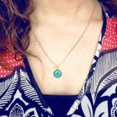 Ivy Green Color Locket - 16k Gold Plated Charm Necklace