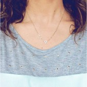 Tiny Triangle Studded Necklace