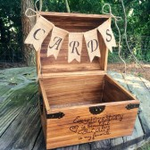 Our Love Story Card Chest with Burlap Cards Banner