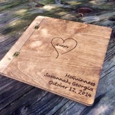 Custom Engraved Wooden Guestbook