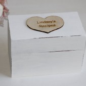Personalized Recipe Box Shabby Chic