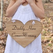 Daddy Here Comes Mommy Wedding Sign