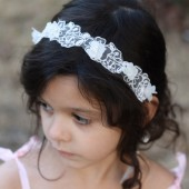 Flower Girl Headband Bridal Headband Child Headband Baby Girl Christening