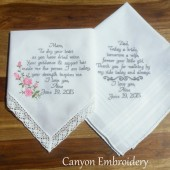 Embroidered Wedding Handkerchiefs Wedding Gifts for Your Loved Ones on your Wedding Day