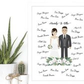 Illustrated guestbook alternative