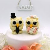owl cake topper, bird cake topper, love birds, wedding cake topper, custom cake topper, hand made cake topper, etsy cake topper