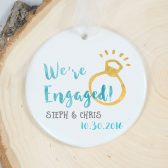 Engagement Ornament - We\'re Engaged Ornament - Personalized Ornament