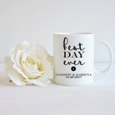best day ever, mug favor, wedding favor, wedding gift