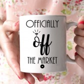 officially off the market, engagement gift, engaged mug, bride mug