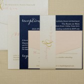 Gold Wedding Invitations | Blush Pink Invitation | Navy Wedding Invitation | Simple Wedding | Formal Wedding Invite Set | Malaya & Godwin