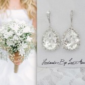 Brides crystal earrings