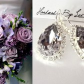 Swarovski Smokey Mauve wedding earrings