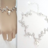 Brides loves and branches bracelet