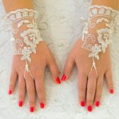 Lace Gloves Fingerless, Ivory Wedding Glove, Bridal Wedding Glove, Wedding Accessories, Bridal Accessories