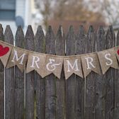 Mr. & Mrs. Burlap Wedding Banner