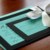 Teal & Black Bridal Shower Invitations