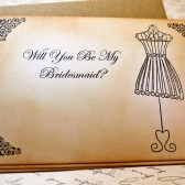 Vintage Inspired Bridal Party Cards