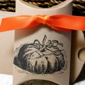 Pumpkin Kraft Pillow Boxes
