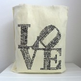 bridesmaids bags, love tote, canvas tote, welcome bag, love bag, bridesmaids gifts