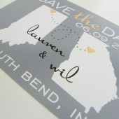 save the date, save the date postcards, map save the date, save the date cards, state map cards