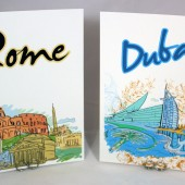Wedding Table Numbers - Cities of the World Travel Theme