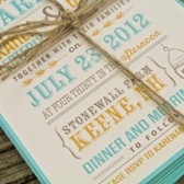 Wedding Invitation : Rustic and Modern Mason Jar