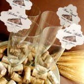 Rustic Champagne Place Cards - 50 pieces