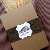 Rustic Wedding Program Booklet