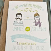 Rustic and Retro Boho invitation