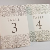 Elegant Floral Border Table Cards