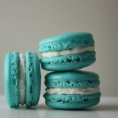 Tiffany Blue Coconut Buttercream French Macaron