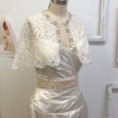 Celine Romantic Bridal bolero/ cape,made of vintage like lace