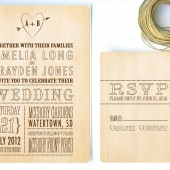 wood chic invitation