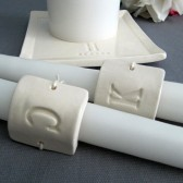 Square PERSONALIZED Unity Candle Ceremony Set