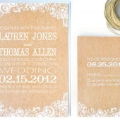 Kraft & white invitation