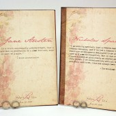 Romantic Quotes Vintage Book Cover Table Cards -