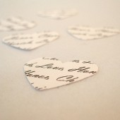 Personalized Confetti White