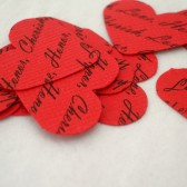 Personalized Confetti // Custom Confetti Paper Hearts // Red