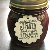Wedding favor tags, personalized favor tags, Jam Packed with Love