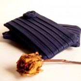 Bridal Wedding Pleated Clutch Purse Navy Blue Rose Bridesmaid Gift Idea Clutch, Pouch, Purse by Lolos