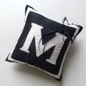 Monogram wedding ring pillow