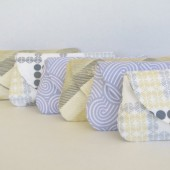 bridesmaids purse set of 6 in gray and yellow