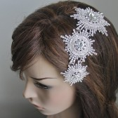 Agnes - Wedding accessories Bridal Fascinator, Bridal Head Piece, Crystal Hair Piece , Wedding