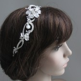 Milla Romantic, Vintage looking Crystal and Pearl Headpiece/ bridal comb