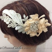 Della crystal head piece, wedding hair accessories, wedding, bridal accessories,bridal hair piece,head fascinator,hair comb