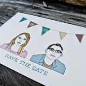 Boho Illustration Save the Date