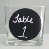 Chalkboard Table Numbers Set of Eight / Candle Holder Wedding Table Centerpiece / Reception Table number