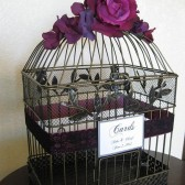 Romantic Birdcage Wedding Card Box Holder With Lace