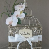 Champagne Wishes Birdcage With Orchids