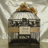 Vintage Inspired Birdcage With Champagne Accents